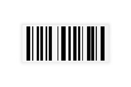 Barcode sticker for store systems. Realistic bar code coding information for scanner. Barcode with shadow vector eps10. Illustration