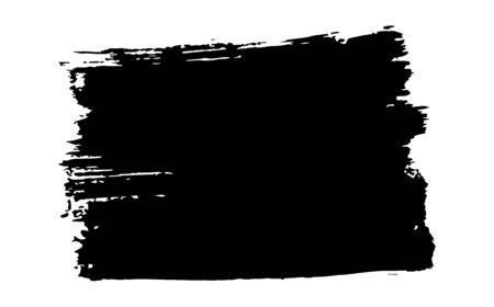 hand-drawn stiff brush black abstract background. Black abstract grunge brush background. Black brush stripe background. Illusztráció