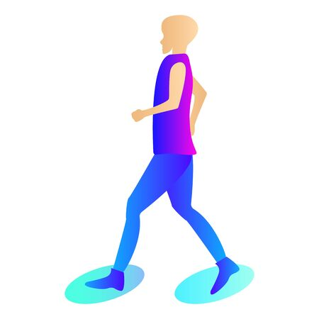 Woman in leggings and sneakers which is engaged in sports. Silhouette of a sports dressed running woman. The woman is engaged in fitness, runs on the track. Ilustrace