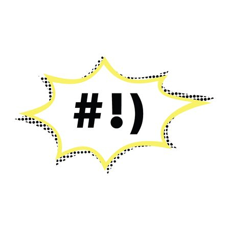 Comic text message splash. Comic text spalsh bubble style. Text comic window,yellow, black and white color