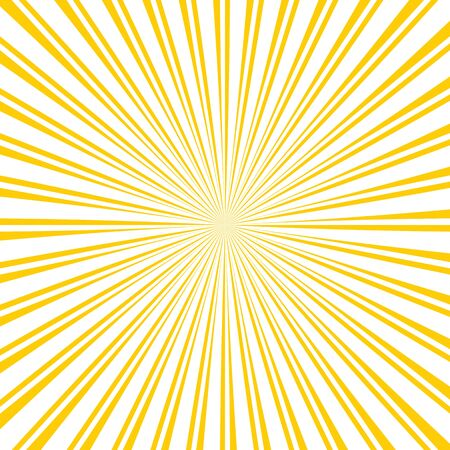 Sun rays yellow background and white stripes. Yellow sun rays background. Yellow and white sun lines, vector background. Illusztráció