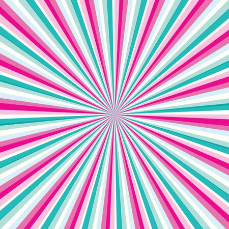 Colorful rays with shades of turquoise and pink colors. Colorful Rays background pink and turquoise colors. Abstract pink and green Rays backrgound vector eps10. Illusztráció