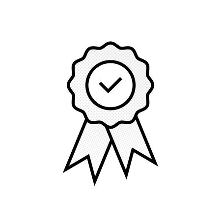 Guaranty  certificate medal with approved  for web shop vector eps10. Approved medal icon with dots. Quality or approved medal.