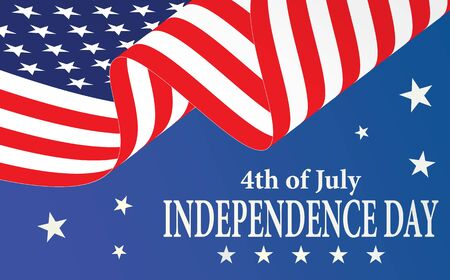 Independence Day American flag 4th july. Fourth of july  amercan flag independence day. American fourth july independence day, united states of america since 1776. Illusztráció