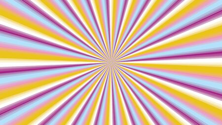Sunburst background in purple and yellow with a defocusing effect. Sun rays dofocusing effect purple, white and  orange color background. Sun Rays background vector eps10.