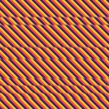Background dark blue, red and orange color stripes with glitch effect. Glitch effect stripes background. Abstract glitch stripes background vector eps10. Illusztráció