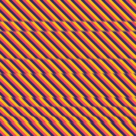 Background dark blue, red and orange color stripes with glitch effect. Glitch effect stripes background. Abstract glitch stripes background vector eps10. Illustration