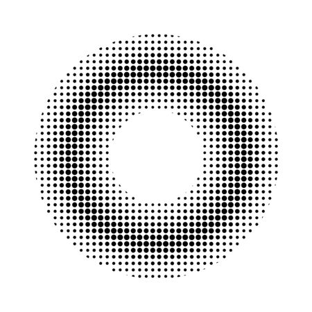 Comic style dotted donut.