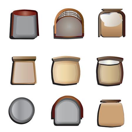 silla: Sillas vista superior set 1 para el interior, ilustración vectorial