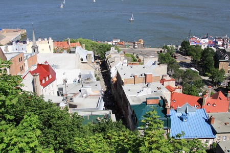 quebec: Lower town of Old Quebec city ,canada