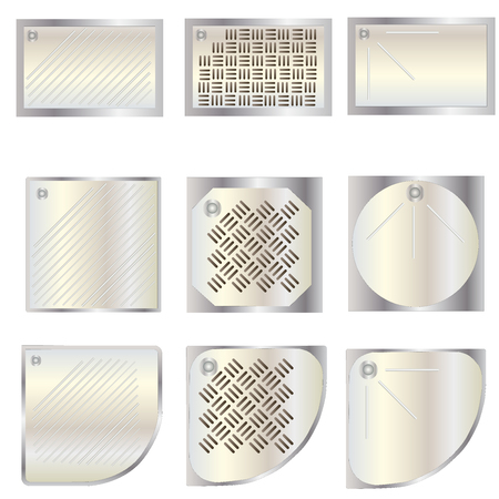 Bathroom, shower tray top view set 7 for interior , vector illustration