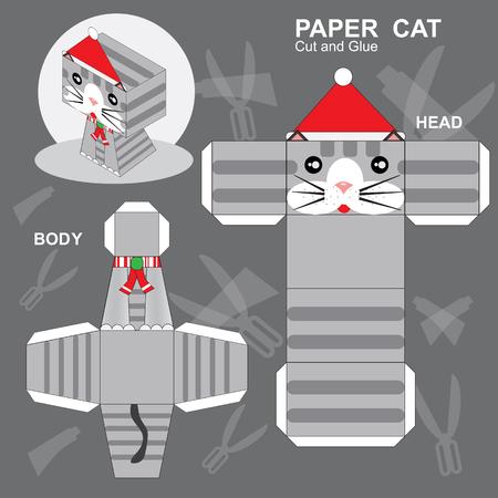 Papierkatze Vorlage Vektorgrafik