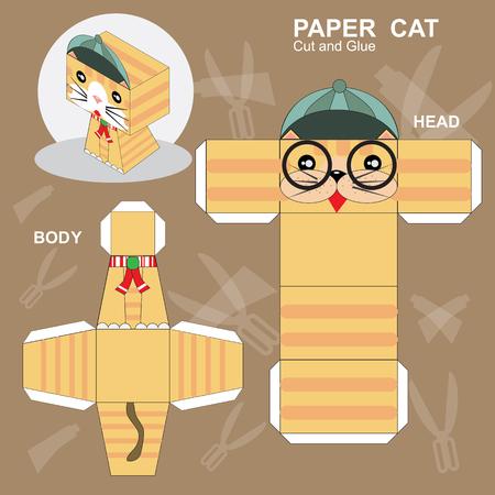 Paper Cat Template Imagens - 106952323