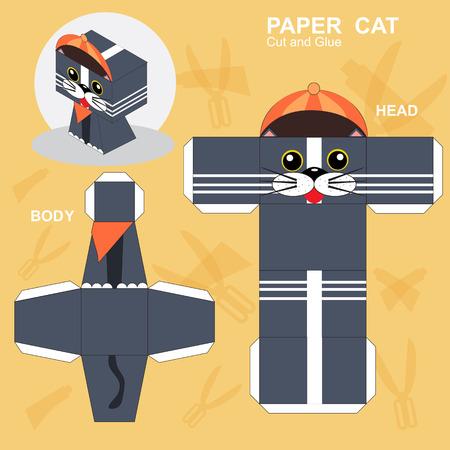 Paper Cat Template Standard-Bild - 106952559