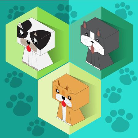 Set of isometric dogs Imagens - 106952584