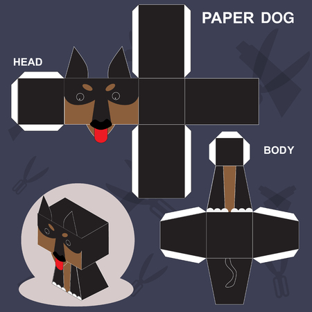 Paper Dog Template