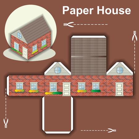 Papierhaus Vorlage