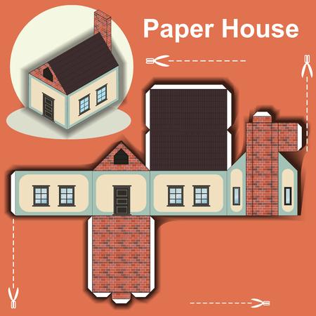 Modello di casa di carta