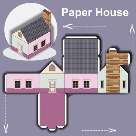 Papierhaus Vorlage Vektorgrafik