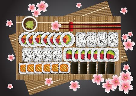 Japanese Food Set Stock Vector - 106429727