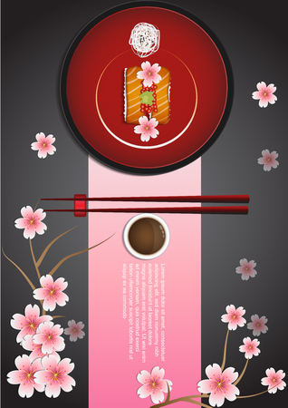 Japanese Food Set Stock Vector - 106430214