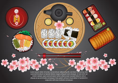 Japanese Food Set Stock Vector - 106430223