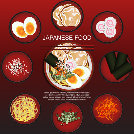 Japanese Food Set,Ramen noodle