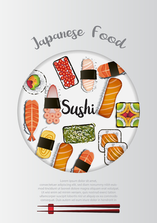 Japanese Food background Çizim
