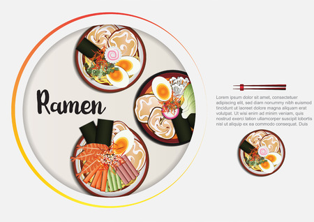 Japanese Food background,ramen