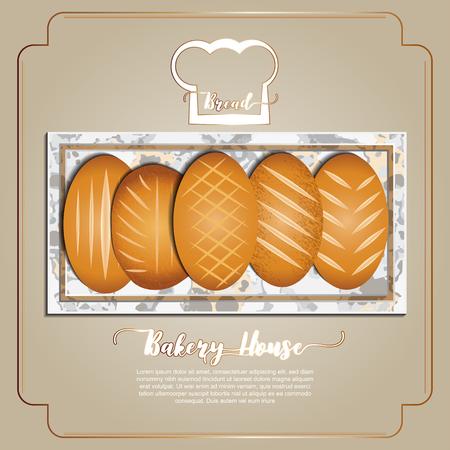 Bread , Bakery collection Ilustração
