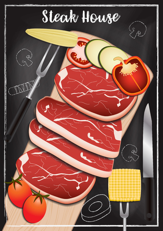Steakhouse with chalkboard background