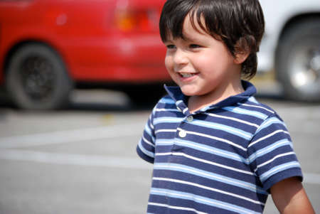 Adorable little boy smiling photo