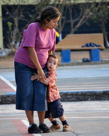hispanic mother: HIspanic Mother and Son
