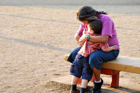 preschoolers: Hispanic Mother and Son