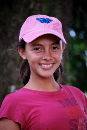 Adorable young girl smiling