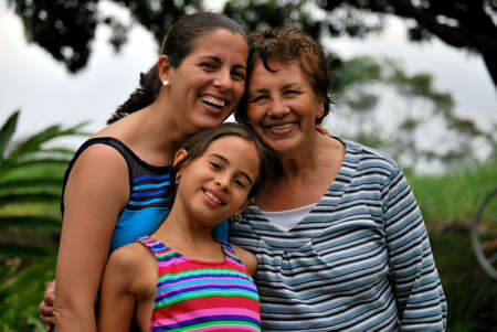 hispanic women: Three generations of Beautiful Hispanic Women