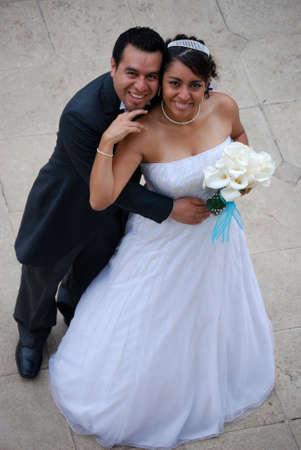HIspanic couple getting married photo