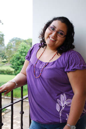 overweight students: Beautiful Hispanic Woman