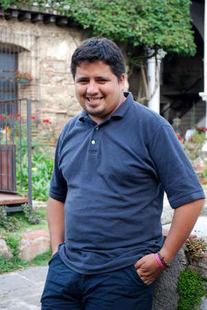 Happy Hispanic man photo