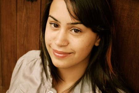Beautiful Hispanic teenager photo