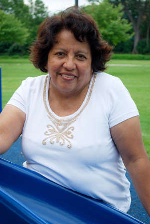 average: Hispanic woman in her fifties