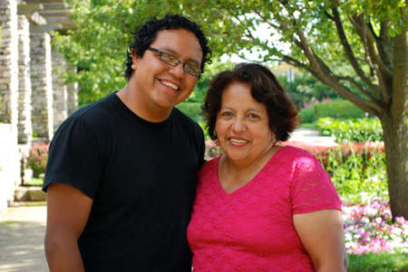 HIspanic mother and son photo