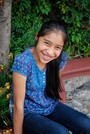 ten year old: Beautiful Mayan girl