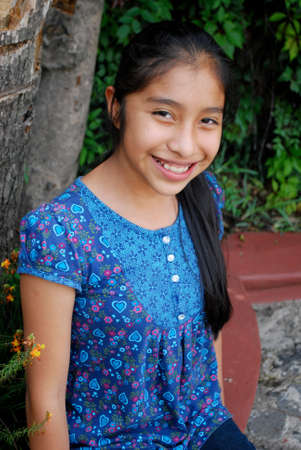 ten year old: Beautiful Hispanic girl