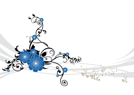 turquesa: Fondo floral