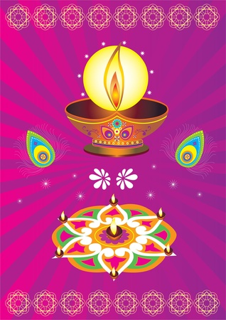 Colorful Indian icon Vector