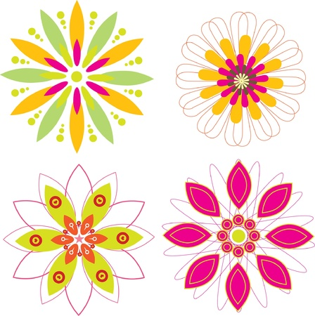lily flowers set: flower set