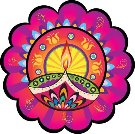 candil: Lámpara de aceite de la India