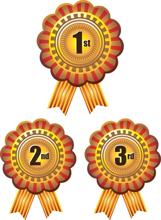 achievement clip art: Label Illustration