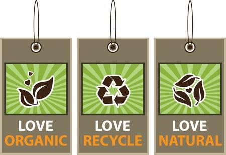 logo recyclage: Balise Illustration